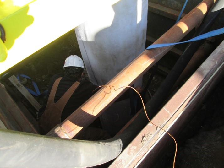 soil loosens which can cause loose and offset joint in sewer pipes